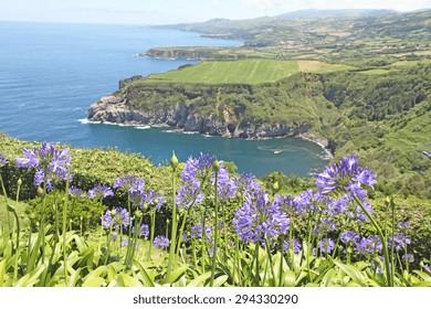 Santa Iria lookout in Sao Miguel island Azores Portugal