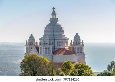 Santa Luzia Basilica on the mount in Viana do Castelo city, Portugal