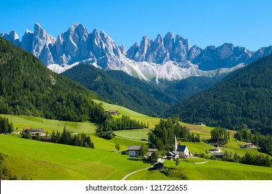 Santa Maddalena in Dolomites Range,South Tyrol, Italy