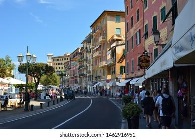 Santa Margherita Ligure, Italy, 07.15.2019. The italian Riviera near Portofino,  a coastal city on the Italian Riviera in the Italian region of Liguria.