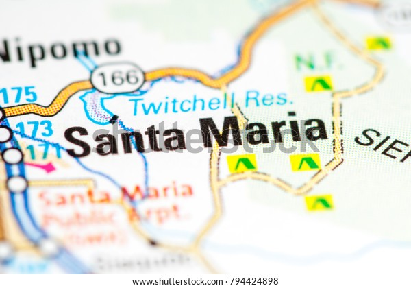 Santa Maria California Usa On Map Stock Photo (Edit Now ... on arroyo grande california map, mckittrick california map, alamitos california map, san bernardo california map, sonoma coast california map, camarillo california map, stevinson california map, loyalton california map, refugio beach california map, ventura california map, morro bay california map, central coast california map, valencia california map, san nicolas island california map, cardiff by the sea california map, mission santa barbara california map, garey california map, buellton ca map, westlake village california map, stockton california map,