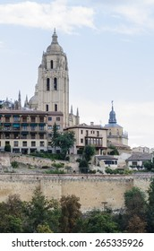 Santa Maria cathedral in Segovia (Spain) - Shutterstock ID 265335926