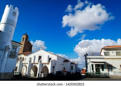 Santa Maria da Feira Church in Beja city, Alentejo Region, Portugal.