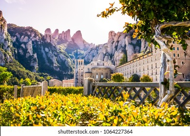 Santa Maria de Montserrat Abbey in Catalonia, Spain