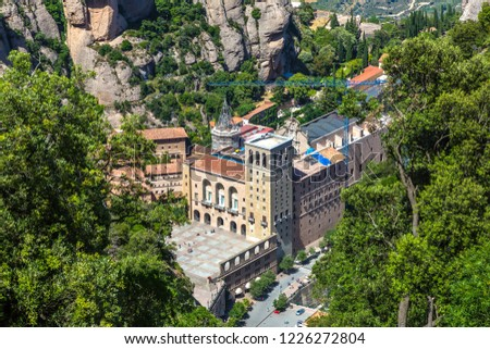 5fbf8ff670 Santa Maria De Montserrat Abbey Monistrol Stock Photo (Edit Now ...
