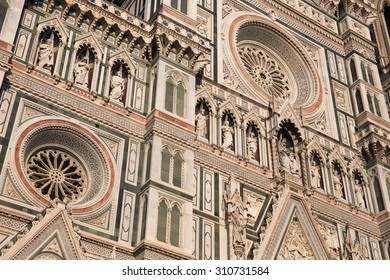 Santa Maria del Fiore cathedral, textures, Florence, Italy