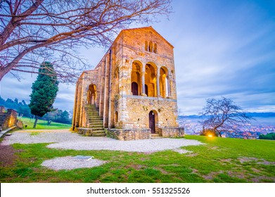 Santa Maria del Naranco, Oviedo, Spain, is a small palace remainging from the Pre-Romanesque period, and it is one of the few still standing in Europe.