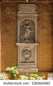 Santa Maria della Concezione dei Cappuccini. Rome, Italy.