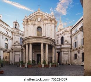 Santa Maria della Pace church in Rome, Italy