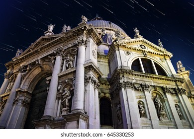 Santa Maria della Salute Cathedral at night