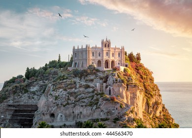 Santa Maria dell'Isola at sunset - Tropea, Calabria, Italy