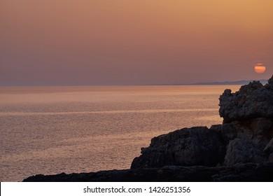Santa Maria di Leuca, sunset from the tip of Ristola, Salento, Puglia