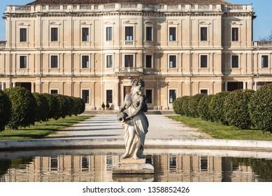 SANTA MARIA DI SALA, IT - March 30, 2019: View of Villa Farsetti in Santa Maria di Sala near Venice Italy