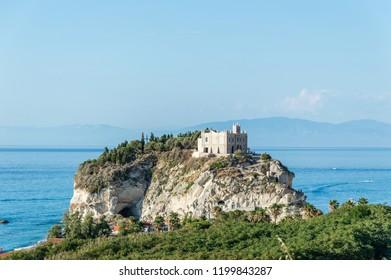 Santa Maria dell'Isola di Tropea in Calabria Italy
