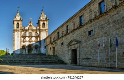 Santa Maria do Bouro church in Amares, north of Portugal