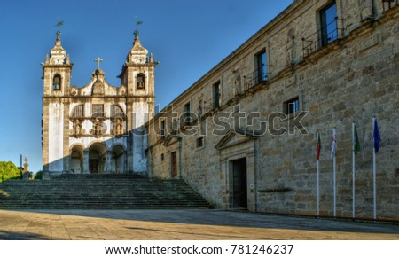 Santa Maria do Bouro church in Amares, north of Portugal