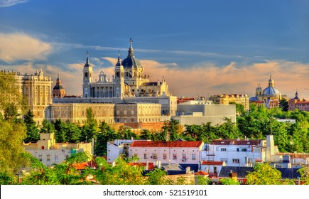 Santa Maria la Real de La Almudena, the Catholic cathedral in Madrid - Spain.