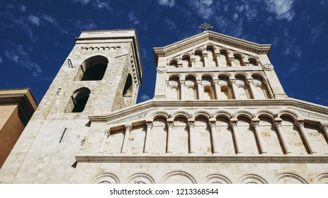 Santa Maria (meaning Saint Mary) cathedral church in Castello quarter in Cagliari, Italy