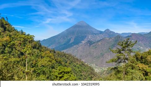 Santa Maria Volcano - Active Volcanoes in the highlands of Guatemala, close to the city of Quetzaltenango - Xela, Guatemala
