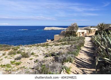 Santa Marija Bay walking trail, Comino Malta