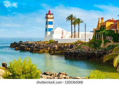 Santa Marta lighthouse and Municipal museum, Cascais, Lisbon, Portugal