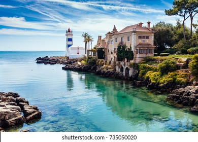 Santa Marta Lighthouse and Museum in Cascais, Lisbon district, Portugal