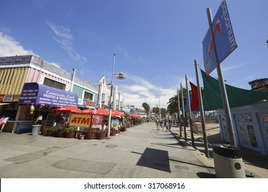 SANTA MONICA - AUGUST 6: Image of the Santa Monica Pier which was built in 1909 and is located at the end of Colorado Street on the Pacific Ocean August 6, 2015 in Santa Monica CA, USA