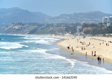 Santa Monica beach, Los Angeles, California, USA.