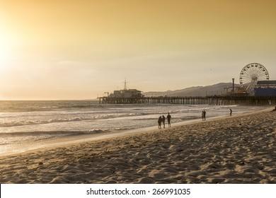santa monica beach, Los Angeles, California