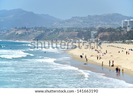 Santa Monica beach, Los Angeles, California, USA.
