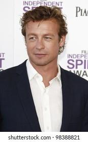 SANTA MONICA, CA - FEB 25: Simon Baker at the 2012 Film Independent Spirit Awards on February 25, 2012 in Santa Monica, California