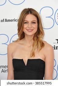 SANTA MONICA, CA - FEBRUARY 21, 2015: Melissa Benoist at the 30th Annual Film Independent Spirit Awards on the beach in Santa Monica.