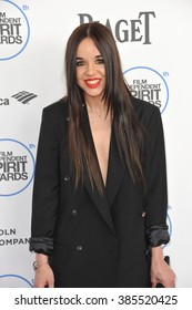 SANTA MONICA, CA - FEBRUARY 21, 2015: Lorelei Linklater at the 30th Annual Film Independent Spirit Awards on the beach in Santa Monica.