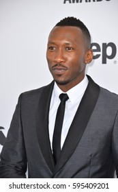 SANTA MONICA, CA. February 25, 2017: Actor Mahershala Ali at the 2017 Film Independent Spirit Awards on the beach in Santa Monica.