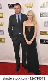 SANTA MONICA, CA - JANUARY 10, 2013: Naomi Watts & Liev Schreiber at the 18th Annual Critics' Choice Movie Awards at Barker Hanger, Santa Monica Airport.