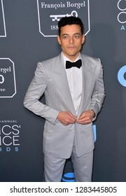SANTA MONICA, CA. January 13, 2019: Rami Malek at the 24th Annual Critics' Choice Awards in Santa Monica.