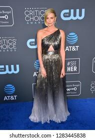 SANTA MONICA, CA. January 13, 2019: Charlize Theron at the 24th Annual Critics' Choice Awards in Santa Monica.