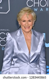 SANTA MONICA, CA. January 13, 2019: Glenn Close at the 24th Annual Critics' Choice Awards in Santa Monica.