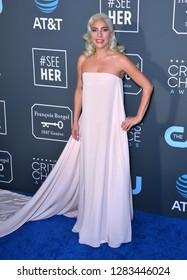 SANTA MONICA, CA. January 13, 2019: Lady Gaga at the 24th Annual Critics' Choice Awards in Santa Monica.