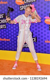 SANTA MONICA, CA. July 19, 2018: JoJo Siwa at the Nickelodeon Kids' Choice Sports Awards 2018 at Barker Hangar
