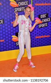 SANTA MONICA, CA. July 19, 2018: JoJo Siwa at the Nickelodeon Kids' Choice Sports Awards 2018 at Barker Hangar