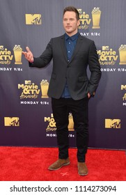 SANTA MONICA, CA - June 16, 2018: Chris Pratt at the 2018 MTV Movie & TV Awards at the Barker Hanger, Santa Monica Airport