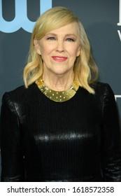 SANTA MONICA, CA / USA - JANUARY 12, 2020: Catherine O'Hara arrives at the 25th Annual Critics' Choice Awards at Barker Hangar on January 12, 2020 in Santa Monica, California