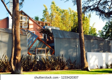 Santa Monica, CA, USA March 16, 2009 Architect Frank Gehry designed his own home in Santa Monica, California with his signature eclectic style