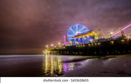 Santa Monica California Night Photography