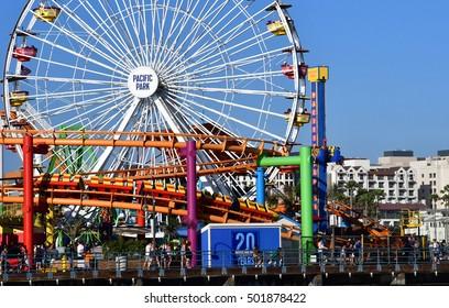 Santa Monica, California, USA - july 15 2016 : the big wheel