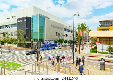 Santa Monica, California, USA - September 05, 2018: City views, Santa Monica streets - a suburb of Los Angeles.