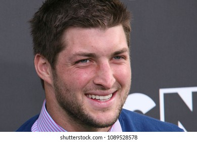 Santa Monica, CA/USA - February 15, 2014: NFL Player Tim Tebow arrives to the Cartoon Network Hall of Game Awards in Santa Monica.