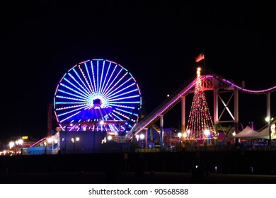 Santa Monica Ferris Wheel night view