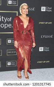 SANTA MONICA - OCT 11: Bebe Rexha at City of Hope Gala 2018 at Barker Hangar on October 11, 2018 in Santa Monica, California